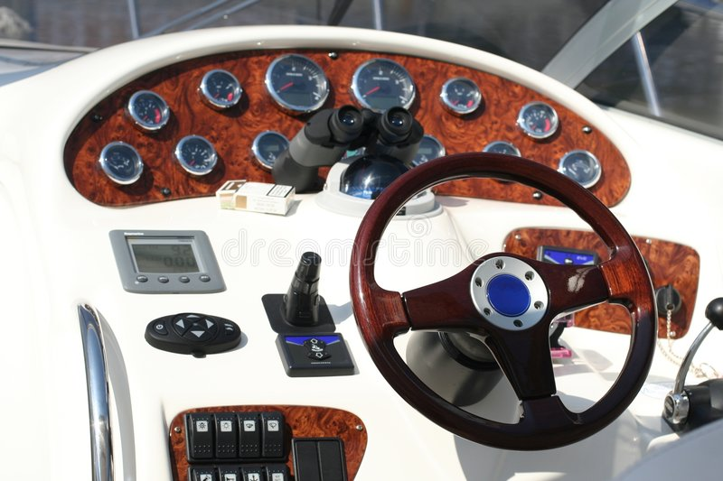Control panel of the speed-boat royalty free stock images