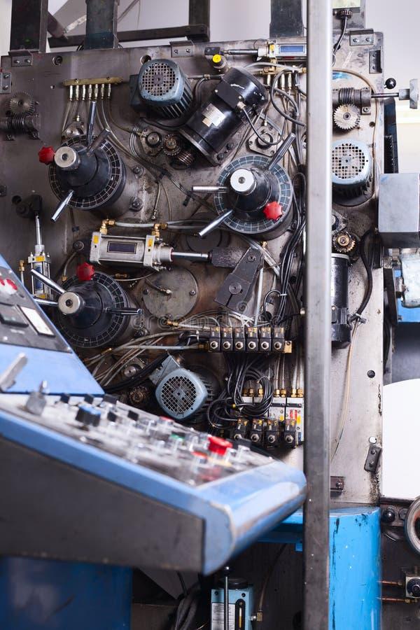 Control panel of typography machine royalty free stock photos