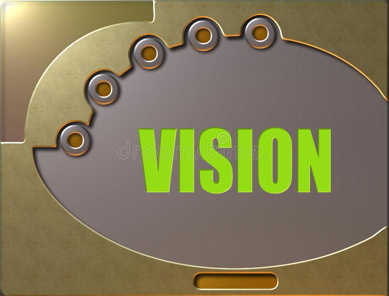 Control panel vision vector illustration
