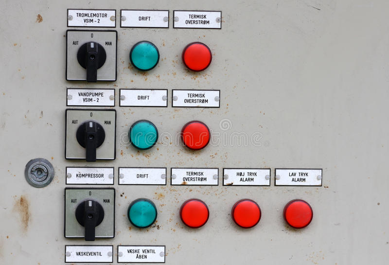 Control Pannel Royalty Free Stock Image