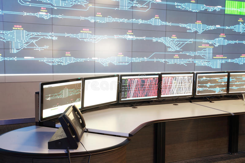 Control room for CRH stock photos
