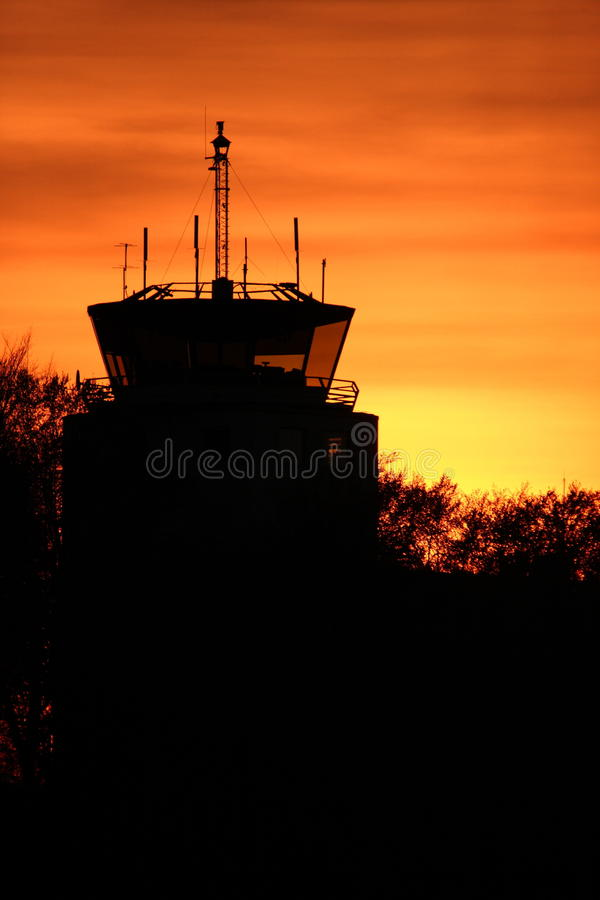 "Control tower. In the small city Ã""ngelholm in Sweden stock images"