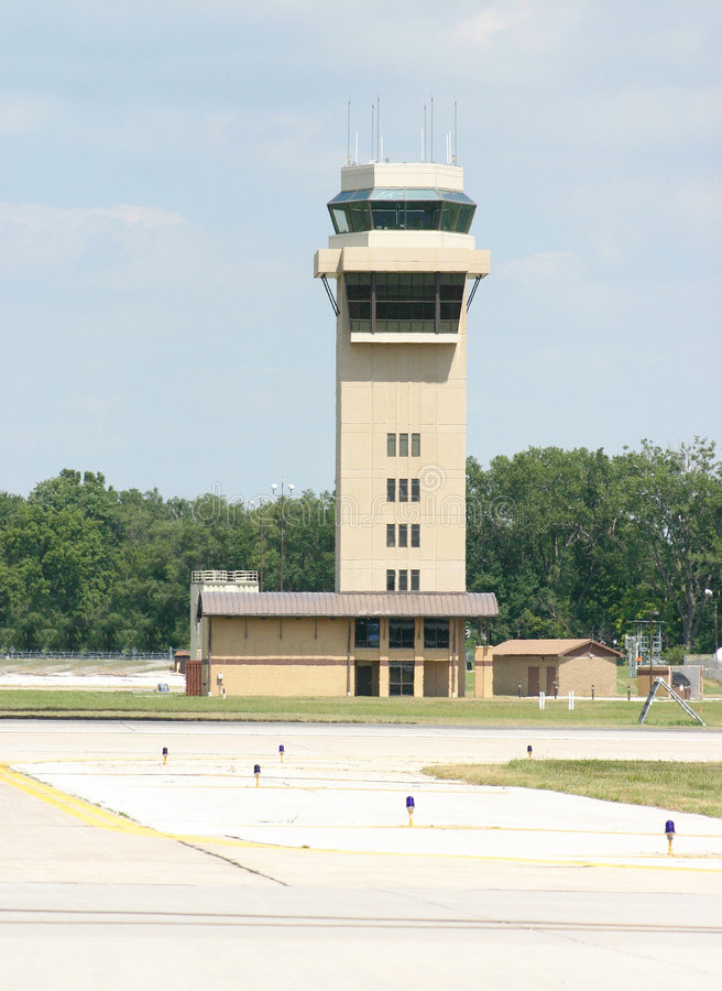 Control Tower. A Control tower at an airport royalty free stock image