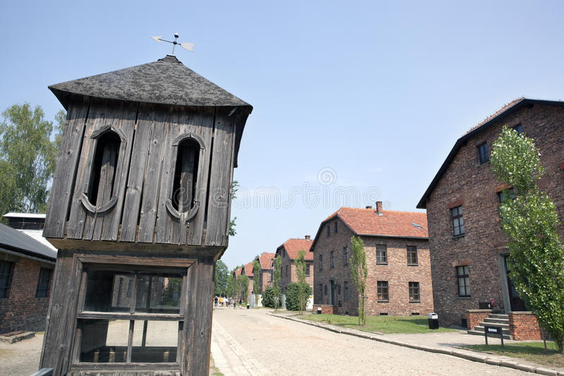Download Control Tower And Barracks In Auschwitz Camp Editorial Photo - Image: 26126586