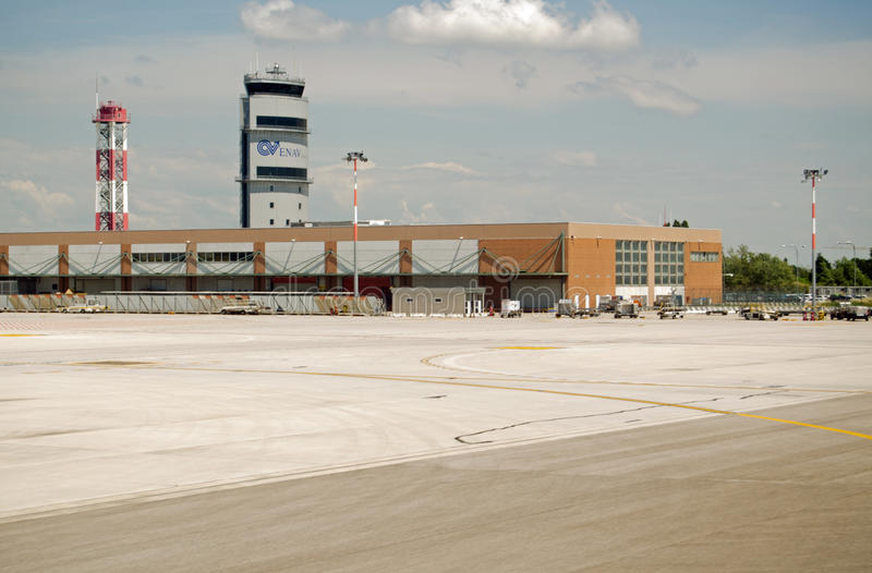 Control Tower, Marco Polo Airport, Venice Editorial Image