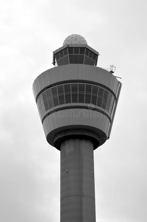 Control tower at Schiphol airport royalty free stock images