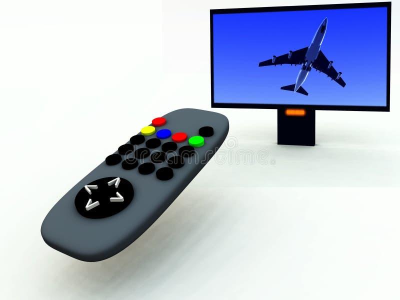 Control y TV 11 de la TV ilustración del vector