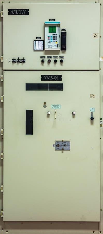Controlador bonde na central elétrica imagem de stock