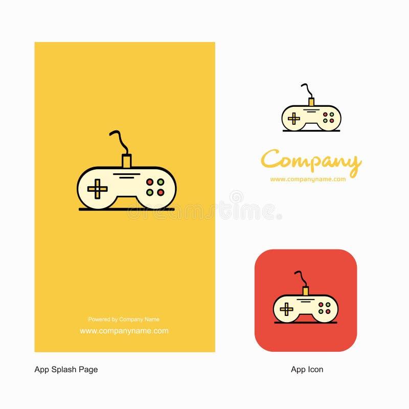 Controlador Company Logo App Icon do jogo e projeto da página do respingo Elementos criativos do projeto do App do negócio ilustração royalty free