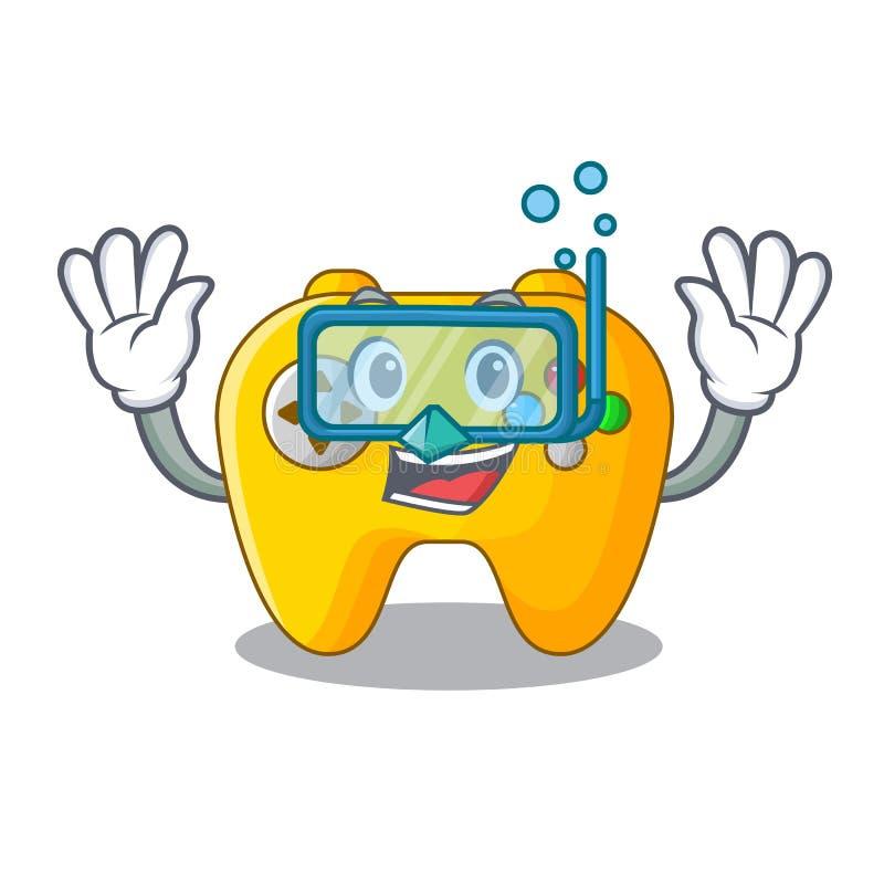 Controlador de mergulho do jogo de vídeo dado forma no charcter ilustração stock
