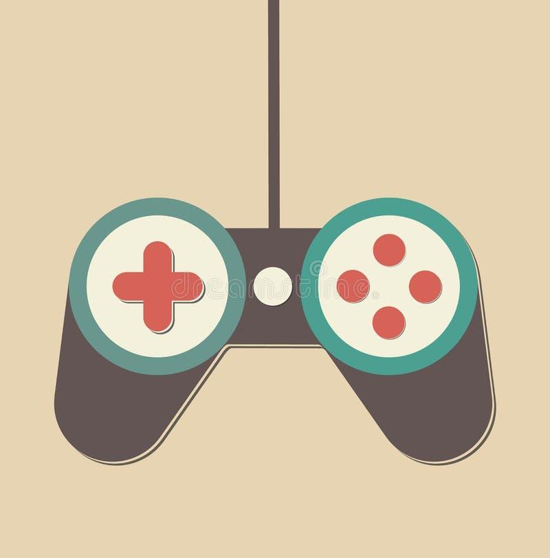 Controlador do jogo de Joypad do manche ilustração do vetor