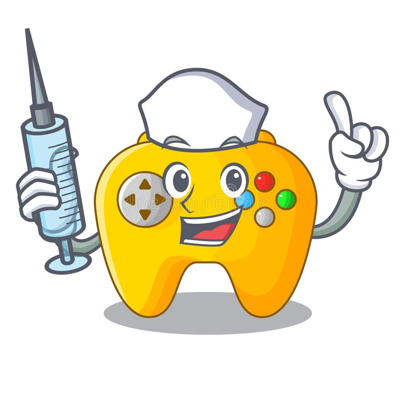 Controlador do jogo de Video da enfermeira dado forma no charcter ilustração royalty free