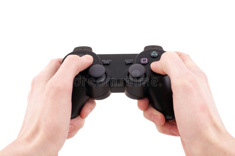 Controlador do jogo video à disposicão isolado fotografia de stock