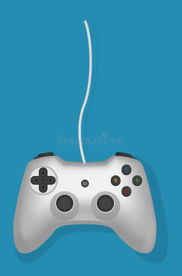 Controlador do jogo video ilustração do vetor