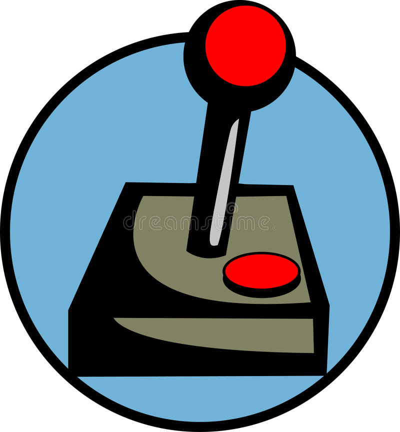Controlador do manche do jogo ilustração do vetor