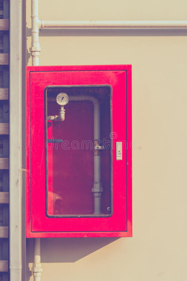 Controlador do sistema da luta contra o sistema de extinção de incêndios e o incêndio da água imagens de stock