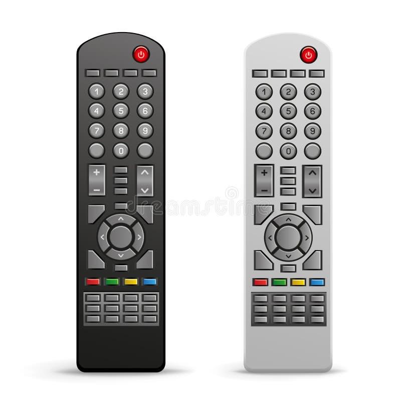 Controlador do telecontrole da tevê ilustração stock