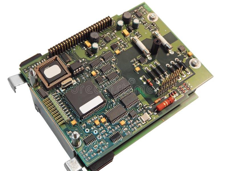 Controlador eletrônico da placa imagens de stock