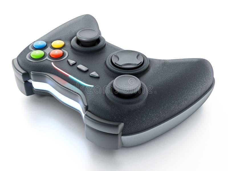 Controlador genérico do jogo isolado no fundo branco ilustração 3D ilustração stock