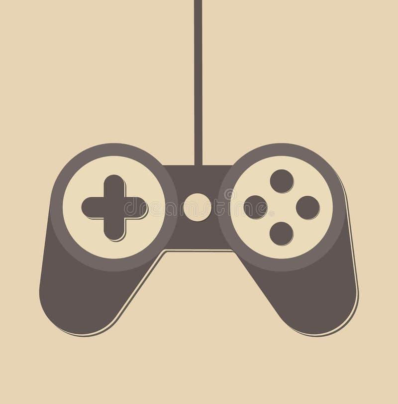 Controlador Icon do jogo de Joypad do manche ilustração do vetor
