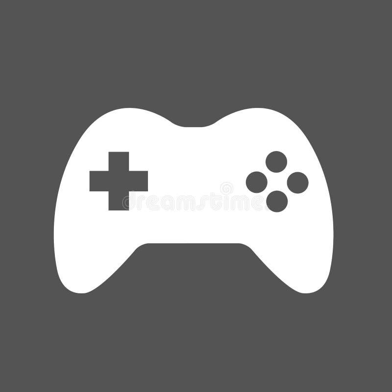 Controlador Icon Logo do jogo de Joypad do manche ilustração royalty free