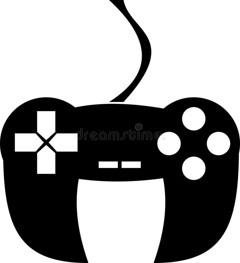Controlador Icon Logo do jogo de Joypad do manche ilustração stock