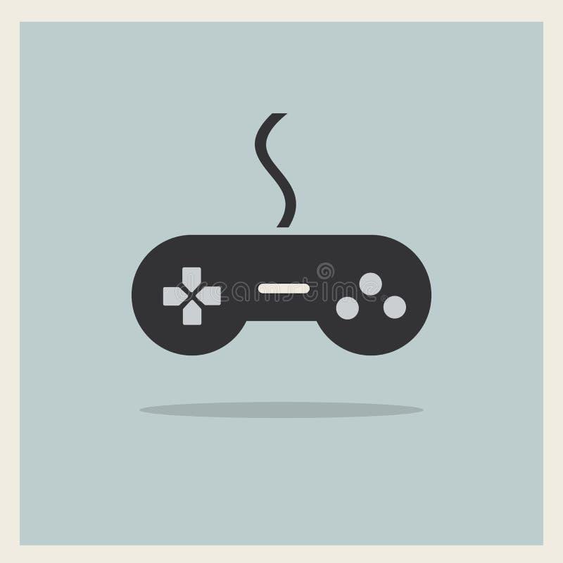 Controlador Joystick Vetora do jogo de vídeo do computador ilustração stock
