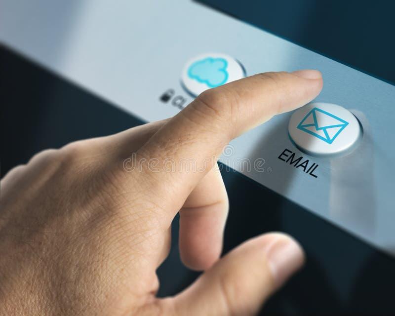Controlar email ilustración del vector