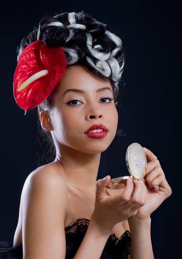 Controlar maquillaje foto de archivo