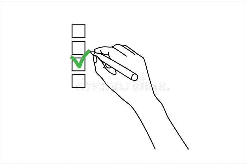 Controle vector illustratie