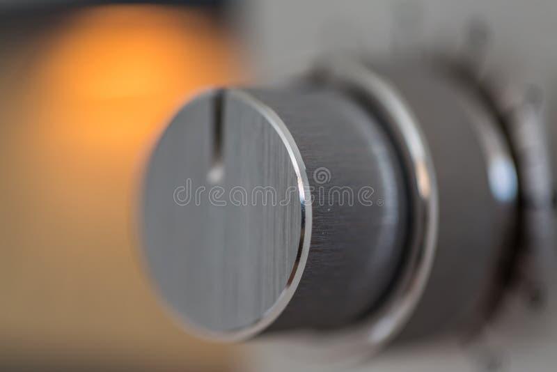 Controle análogo do botão do volume fotografia de stock royalty free