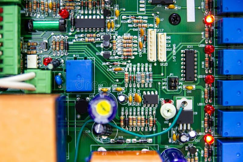 Controle controleert de Elektronische motherboards kring, elektronische kringen royalty-vrije stock afbeeldingen