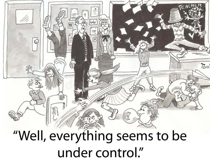 Controle da classe ilustração royalty free