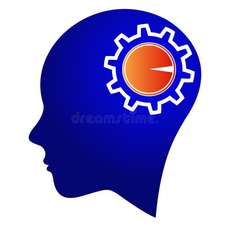 Controle da engrenagem da mente ilustração stock