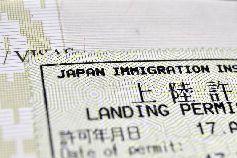 Controle da imigração imagens de stock royalty free