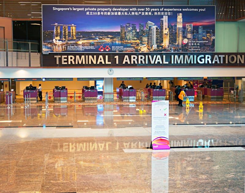 Controle da imigração do aeroporto fotos de stock royalty free