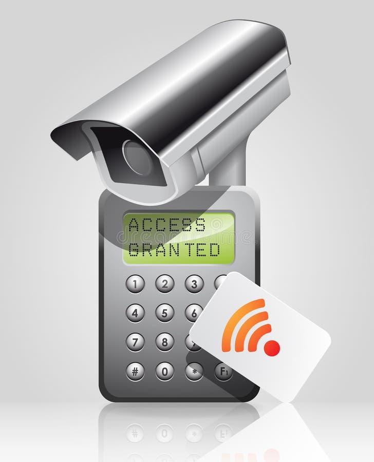 Controle de acesso - acesso concedido ilustração royalty free