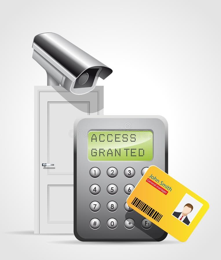 Controle de acesso - porta 2 ilustração stock