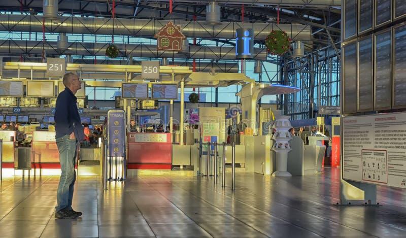 Controle in de luchthaven van Praag royalty-vrije stock foto