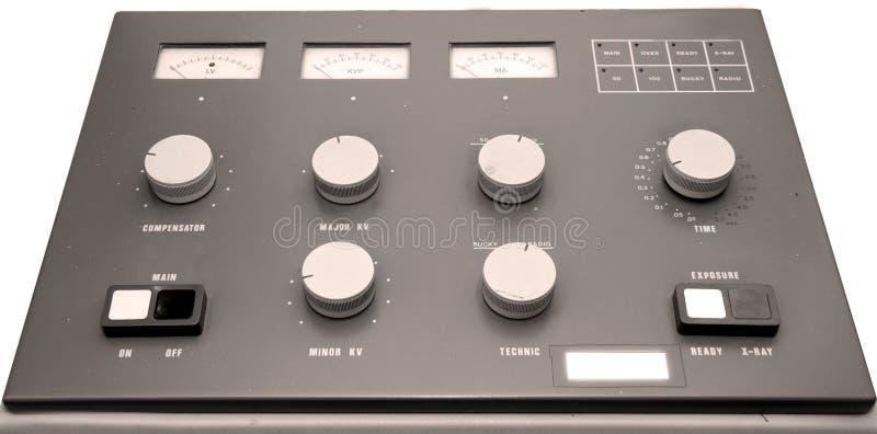 controle de máquina de raio X no hospital fotografia de stock