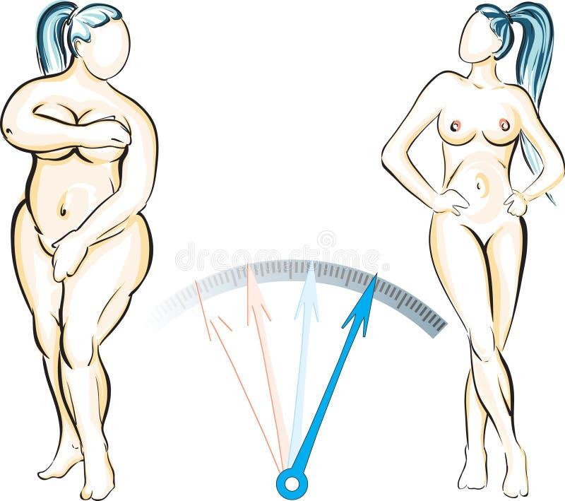 Controle de peso ilustração stock