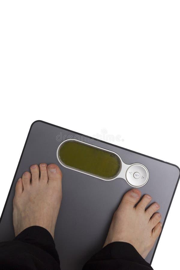 Controle de peso imagens de stock