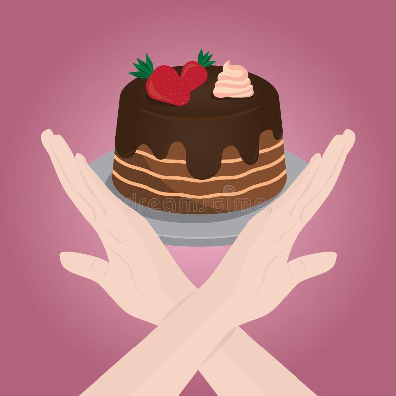 Controle de peso Afrouxando o peso Dieta ilustração do vetor