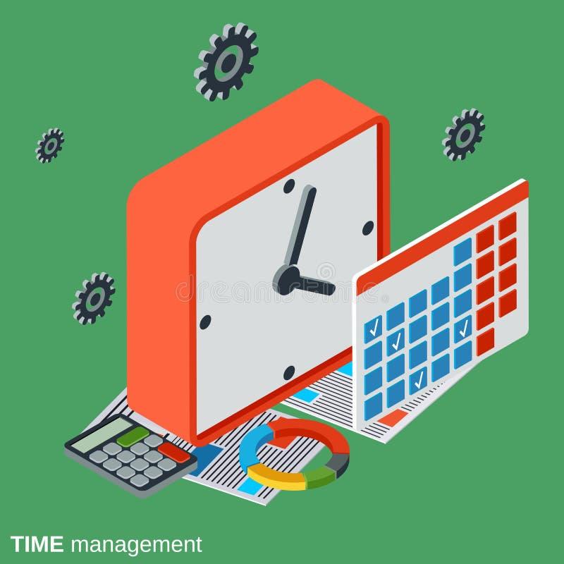 Controle de tempo, conceito do vetor da gestão ilustração do vetor