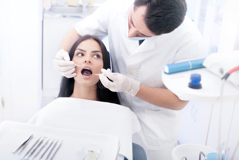 Controle dental fotografia de stock royalty free