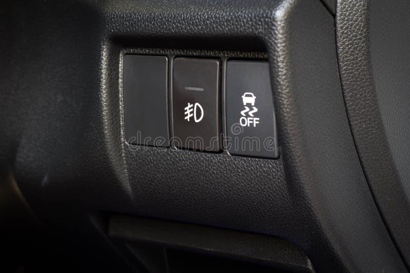 Controle do carro na direção Whee imagem de stock royalty free