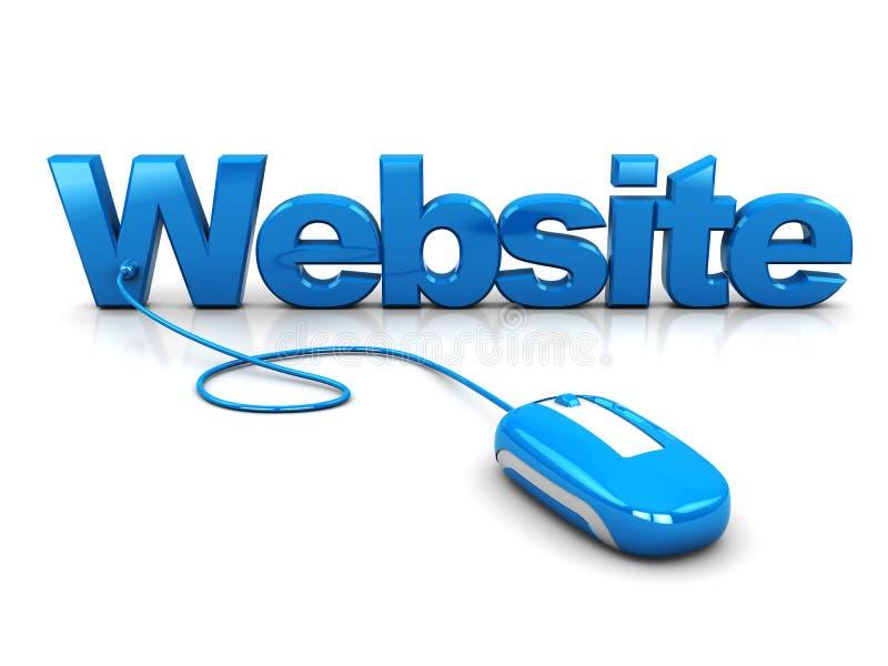 Controle do Web site ilustração royalty free