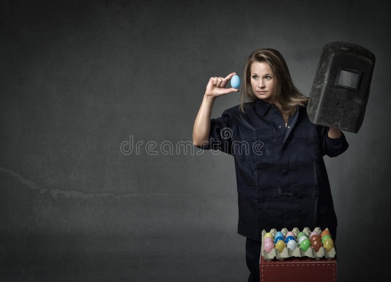 Controle dos ovos da páscoa fotografia de stock