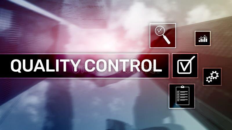 Controle e segurança da qualidade estandardização garantia padrões Conceito do negócio e da tecnologia imagens de stock royalty free
