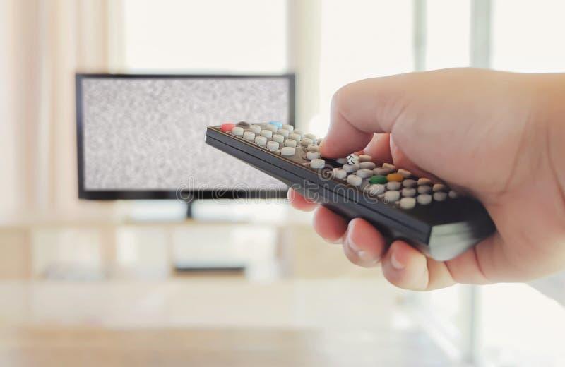 Controle el canal de televisión imagen de archivo libre de regalías